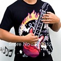 2016 Amazing Unisex Black man's t-shirt Playable Electronic Music T-Shirt playable Guitar t shirt with sound speaker