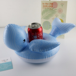 12 teile/paket! Aufblasbare whale trinken schwimmt Aufblasbare Blau whale Tasse Halter Pool Party Aufblasbare trinken schwimmt Tasse Halter