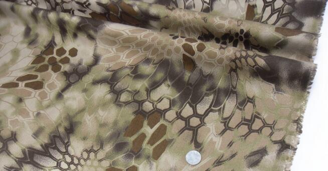 Cotton polyester fabric,tecidos a metro,Jungle python pattern camouflage fabric bionic,150CM,B3001