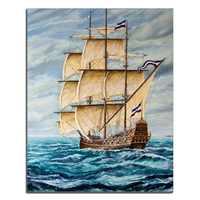 Laeacco Astratta Nordic Barca A Vela Mare Famoso Poster e Stampe Su Tela Pittura Opere D'arte Della Parete Foto Camera Da Letto Complementi Arredo Casa