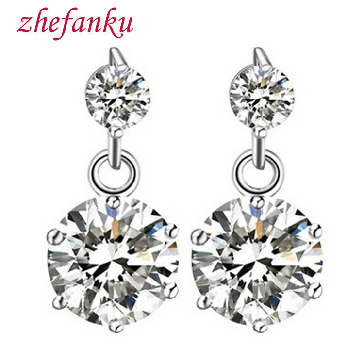 Silver color Charming Jewelery Accessories Korean Style High Quality Star Shaped Woman Earrings