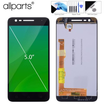 @Original 5.0 IPS For Lenovo C2 K10a40 Display Vibe C2 LCD Touch Screen Digitizer Assembly Dual SIM Screen Replacement K10a40