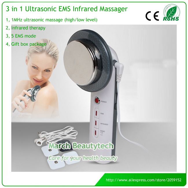 Body Skin Massager Device Beauty Health Care Ultrasonic Slimming EMS Tens Electrode Pads Infrared Anti Cellulite kingdom kd 9900 ems rf electroporation beauty device