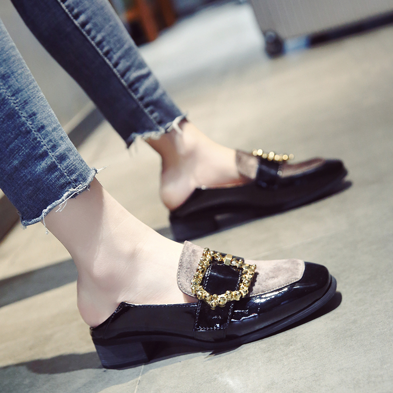 patent leather shoes woman flats ladies metal buckle flat shoes women loafers women shoes harajuku creepers zapatos de mujer hee grand solid patent leather women oxfords british new fashion platform flats casual buckle strap ladies shoes woman xwd5833