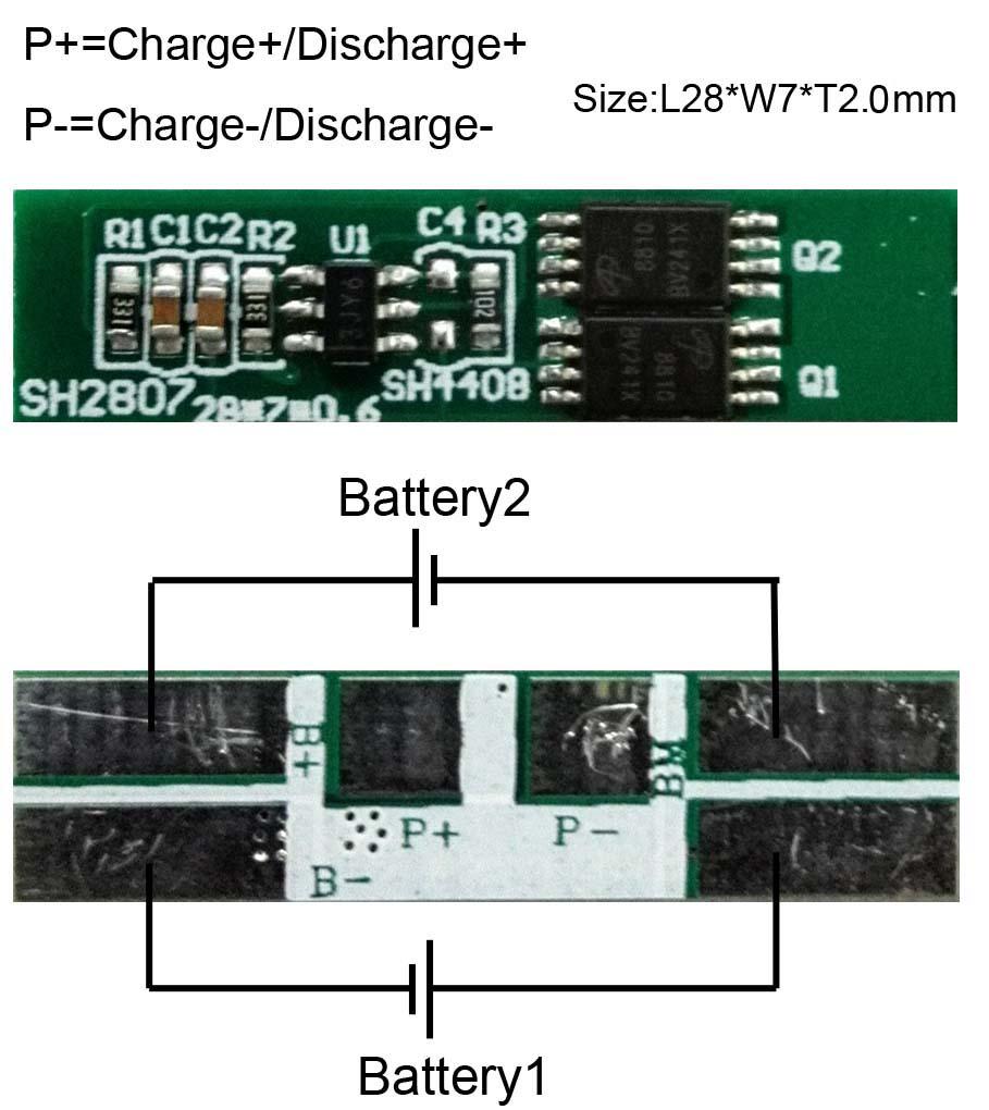 Schema Collegamento Bms : Aliexpress buy protection circuit module s a bms