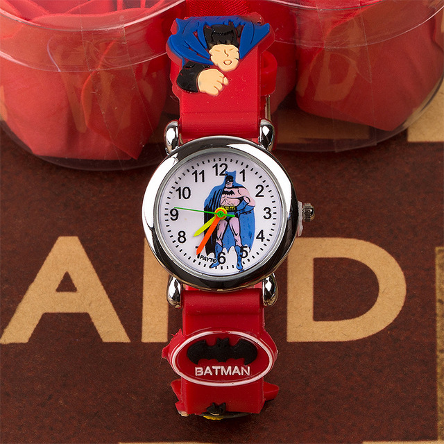 2018 Cheap Kids Watch Children's Silicone Quartz Watch Cartoon Batman Children's