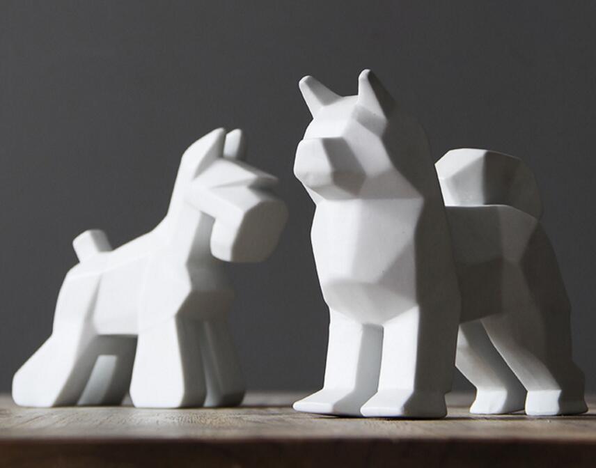 Creative ceramic dog home decor crafts room decoration ceramic kawaii ornament porcelain animal figurines decorations dog statueCreative ceramic dog home decor crafts room decoration ceramic kawaii ornament porcelain animal figurines decorations dog statue