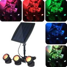 Solar Powered Underwater Light Multicolor Submersible Pond Spotlights Waterproof Landscape Lamp for Outdoor Garden Pool decor