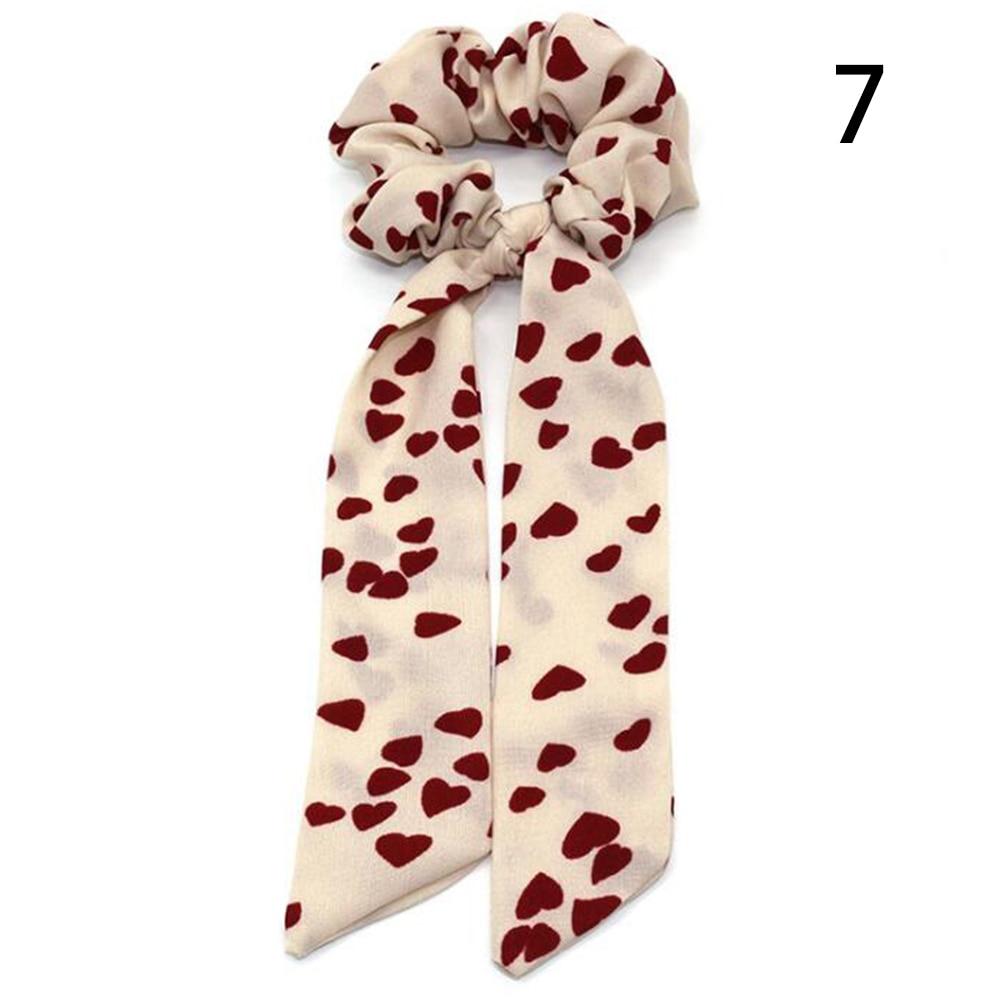 Богемные резинки для волос в горошек с цветочным принтом и бантом, женские эластичные резинки для волос, повязка-шарф, резинки для волос, аксессуары для волос для девочек