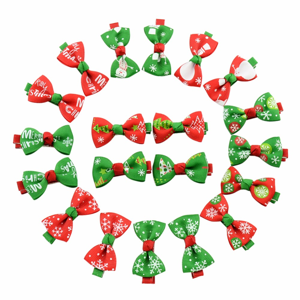 Baby Christmas Hair Clips For Girls Bowknot Hairpin Hair Bow Hair Accessories