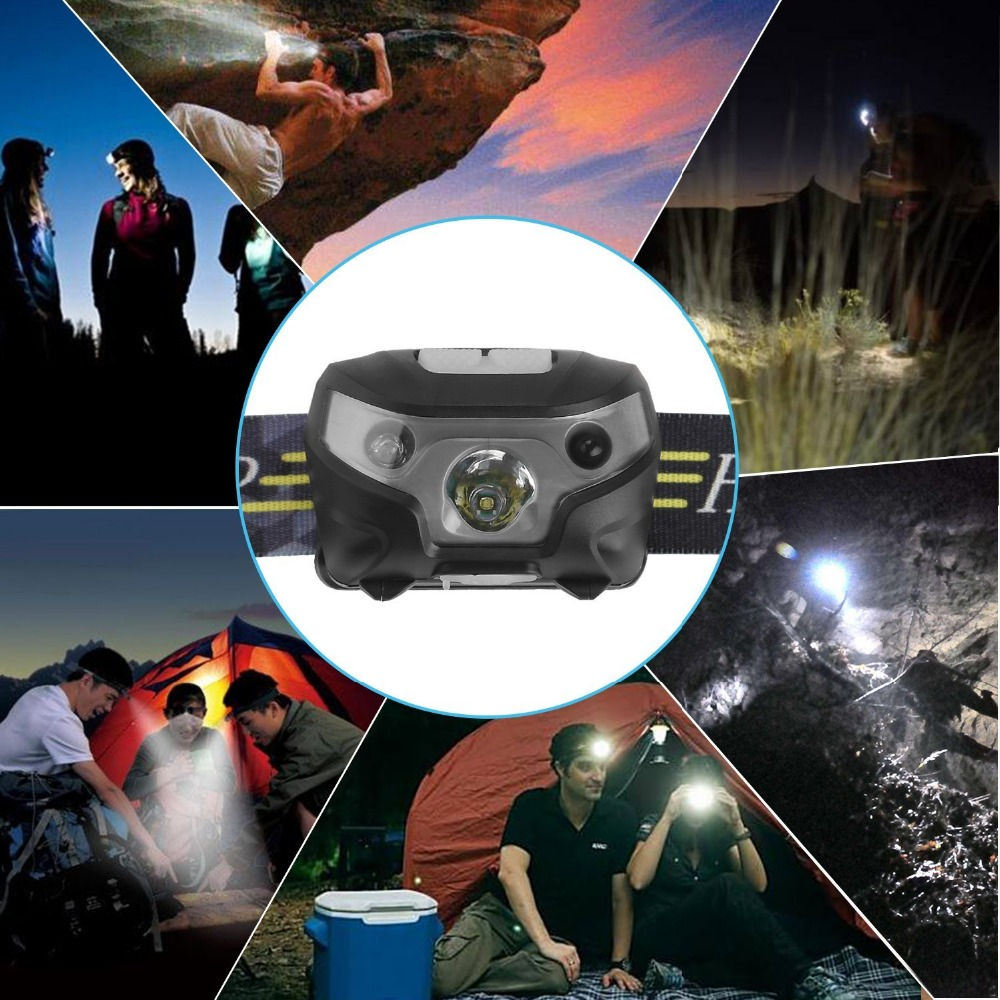 Image 5 - new Mini Rechargeable LED Headlamp Headlight Body Motion Sensor Led Head Lamp Camping Flashlight Waterproof for Running Light-in Headlamps from Lights & Lighting