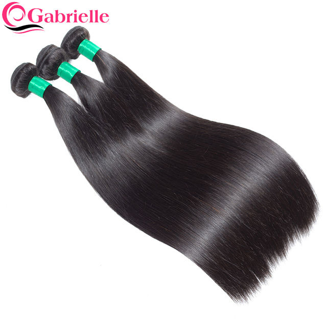 Gabrielle Indian Straight Human Hair Bundles 1 Piece 8-28 inch Natural Color Non Remy Hair Extensions Free Shipping
