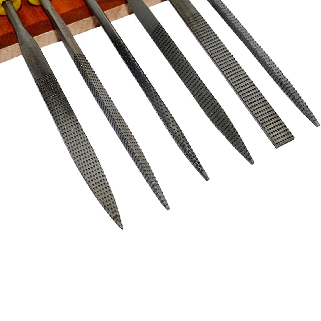 Купить с кэшбэком 6pcs Mini Metal Filing  Rasp Diamond Needle File Wood Grinding Tools Hand Woodworking Files Tool 140x3mm