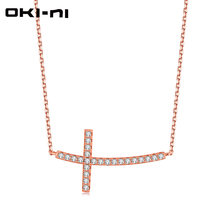 4173dc2f20f9 Oki-ni venta caliente 925 Plata de ley de oro de color chocker Collares  Cruz Colgantes mujeres mejor amigo regalo de joyería xly.