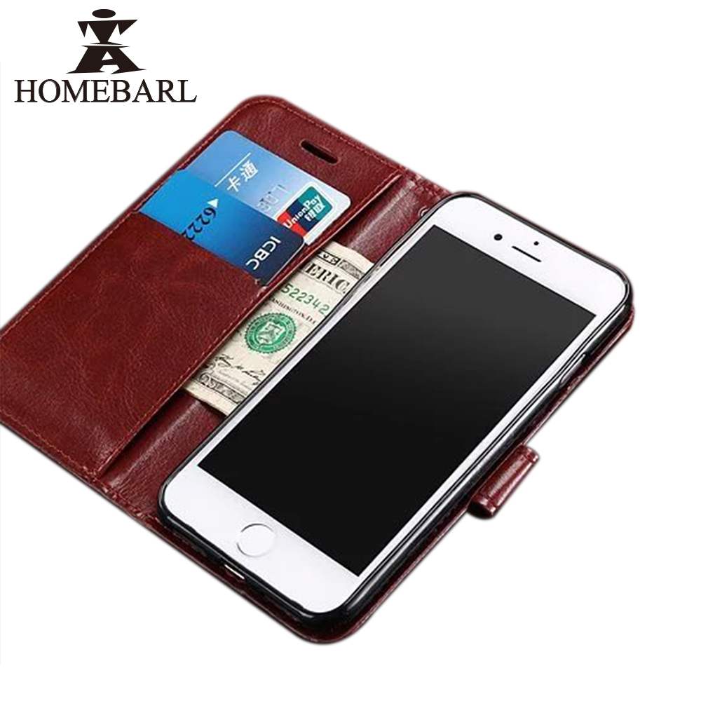 HOMEBARL Bag Luxury 3 in 1 Pu Leather Wallet Stand Kickstand Flip Fitted Phone Case Cover For Iphone 7 7Plus 4.7/5.5 Inch 2C72