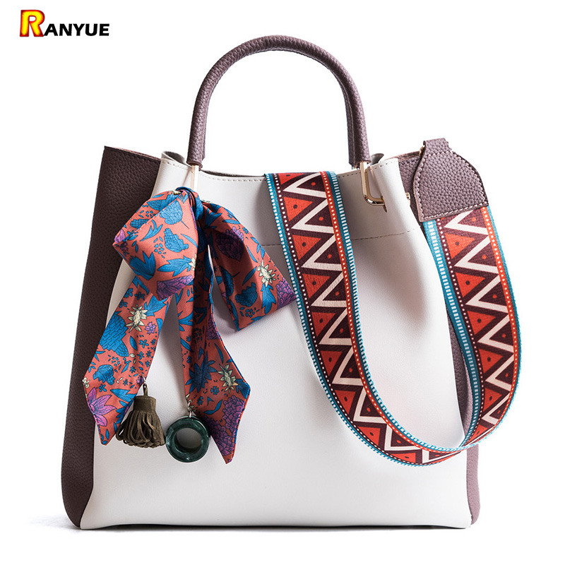 Luxury Tassel Handbags Woman Bags Designer High Quality PU Leather Women Totes Girls Shoulder Messenger Bag Bolsos Famous Brands 2018 women 3pcs set handbags pu leather shoulder bags tassel handle designer composite messenger bag casual tote bag ll408