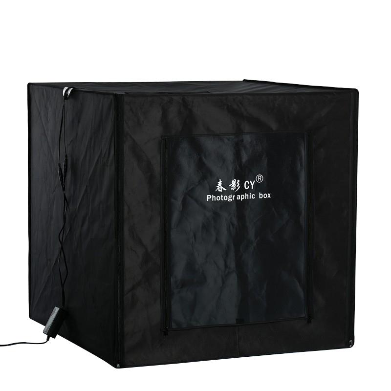 80 cm * 80 cm/31.5 pouces * 31.5 pouces Photo tente tableau photographie boîte souple Kit lumière LED en Aluminium réflexion tissu à l'intérieur