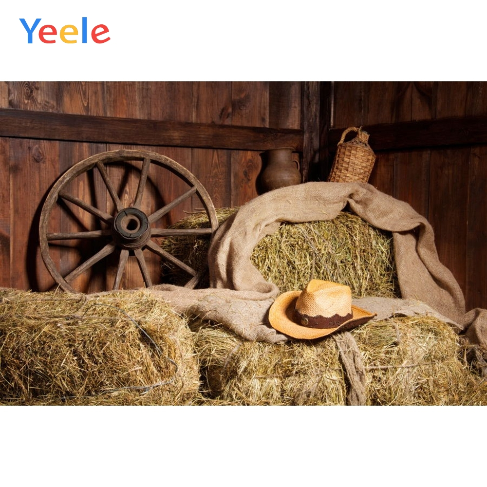 Autumn Rural Farm Barn Haystack Wheel Hay Scene Baby Child Photography Backgrounds Custom Photographic Backdrop For Photo Studio in Background from Consumer Electronics