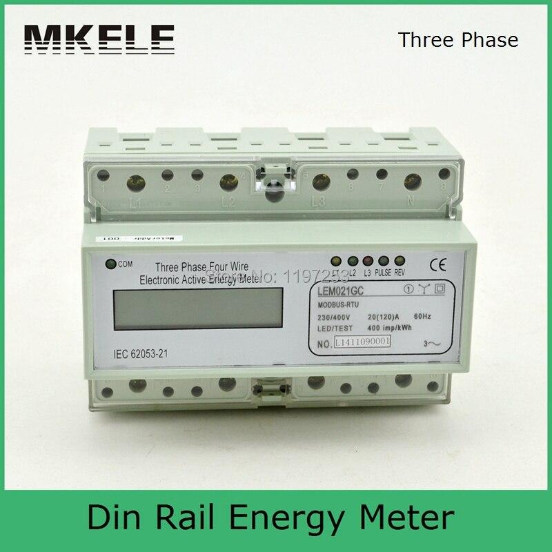 Modbus RTU Din Rail MK-LEM021GC portable digital LCD three phase energy meter mk lem021ag 3 phase 4 wire energy meter connection three phase energy meter test bench digital energy meter