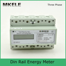 Modbus RTU Din Rail MK-LEM021GC portable digital LCD three phase energy meter