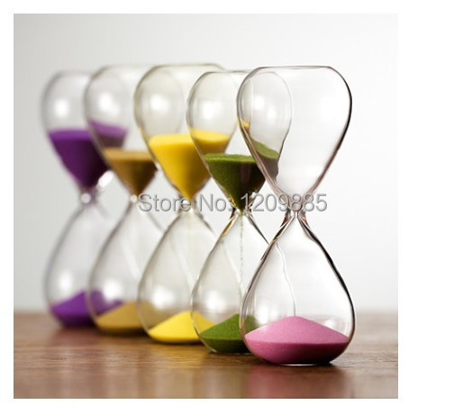 O.RoseLif Fashion 30 Minutes Contemporary Clear Glass Sand Hourglass Timer Sandglass Aesthetic Crystal Glass Hourglass