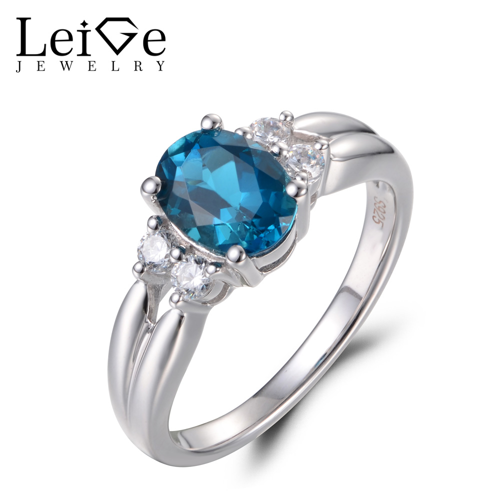 Leige Jewelry London Blue Topaz Rings Promise Rings Gemstone Ring November Birthstone 925 Sterling Silver Elegant Ring for Women leige jewelry swiss blue topaz ring oval shaped engagement promise rings for women 925 sterling silver blue gemstone jewelry