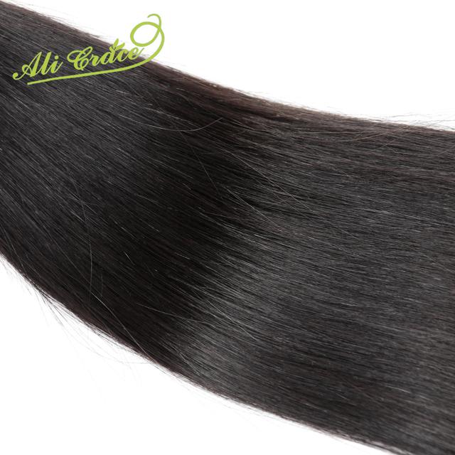 Ali Graça 2 pçs/lote Grau Não Transformados Virgin Malaio Do Cabelo Humano Em Linha Reta Extensão Do Cabelo Preto Natural weave12 cabelo de 28 polegada