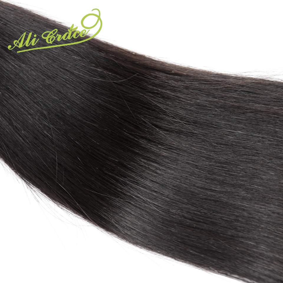 Ali Grace 2pcs lot Grade Unprocessed Virgin Hair Malaysian Straight Human Hair Extension Natural Black hair
