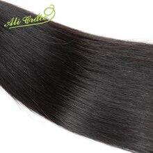 Ali Grace 2pcs lot Grade Unprocessed Virgin Hair Malaysian Straight Human Hair Extension Natural Black hair