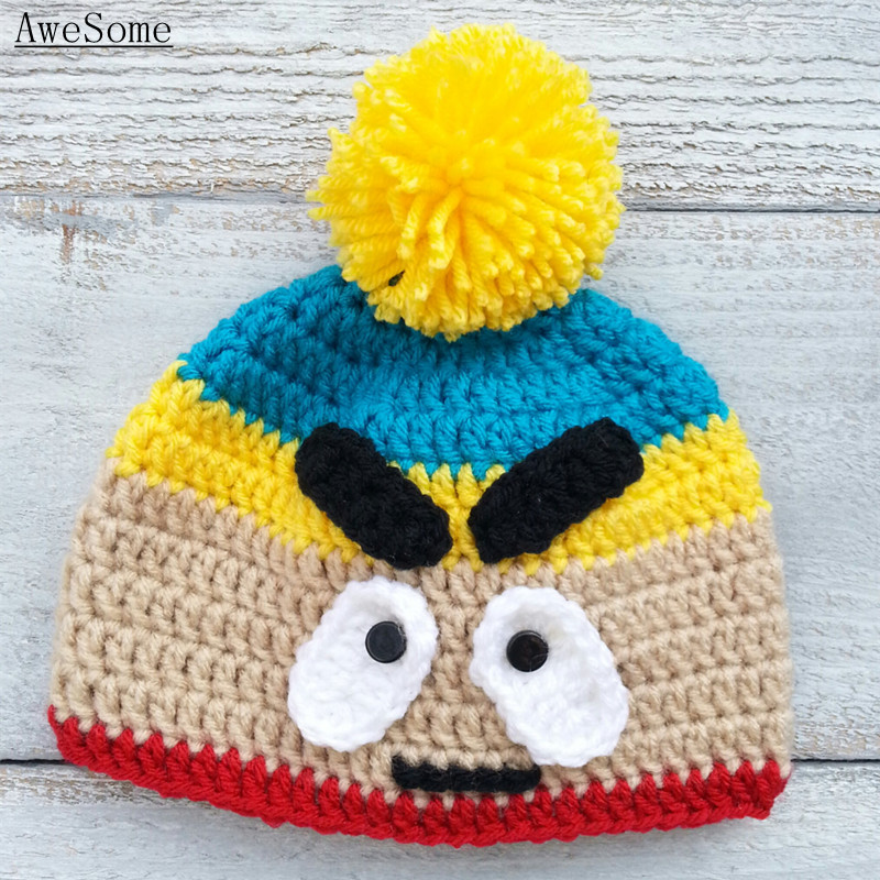 South Park Inspired Eric Cartman Pompom Beanie e2db8738877