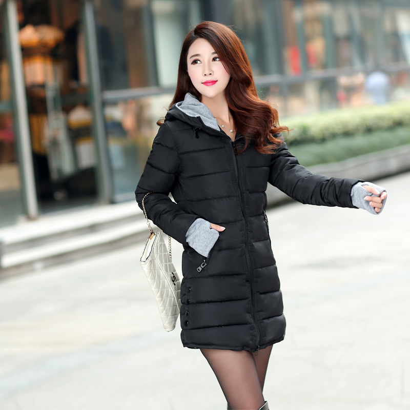 12 Colors Women Plus Size Female Hoodie Hooded Autumn Winter Long Sleeve Down Parka Slim Casual Quilted Chaquetas Jacket Coat 1