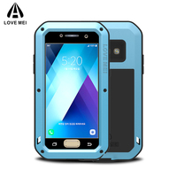 L0VE MEI Metal Case For Samsung Galaxy A5 2017 A520 A320 A3 Cover Aluminum Armor Shockproof Waterproof Case For Samsung A3 2017