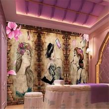 3D wallpaper  European beauty