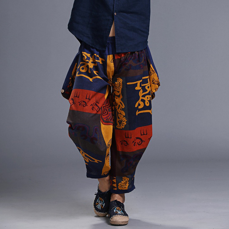 Chinese Style Harem Pants Men Fashion Hip Hop Stre...