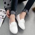 Новых Женщин Квартиры Обувь Мода Острым Носом Квартиры Шнуровке Оксфорд Для Женщин Pu Тиснением Женщины Кожаные Ботинки 20