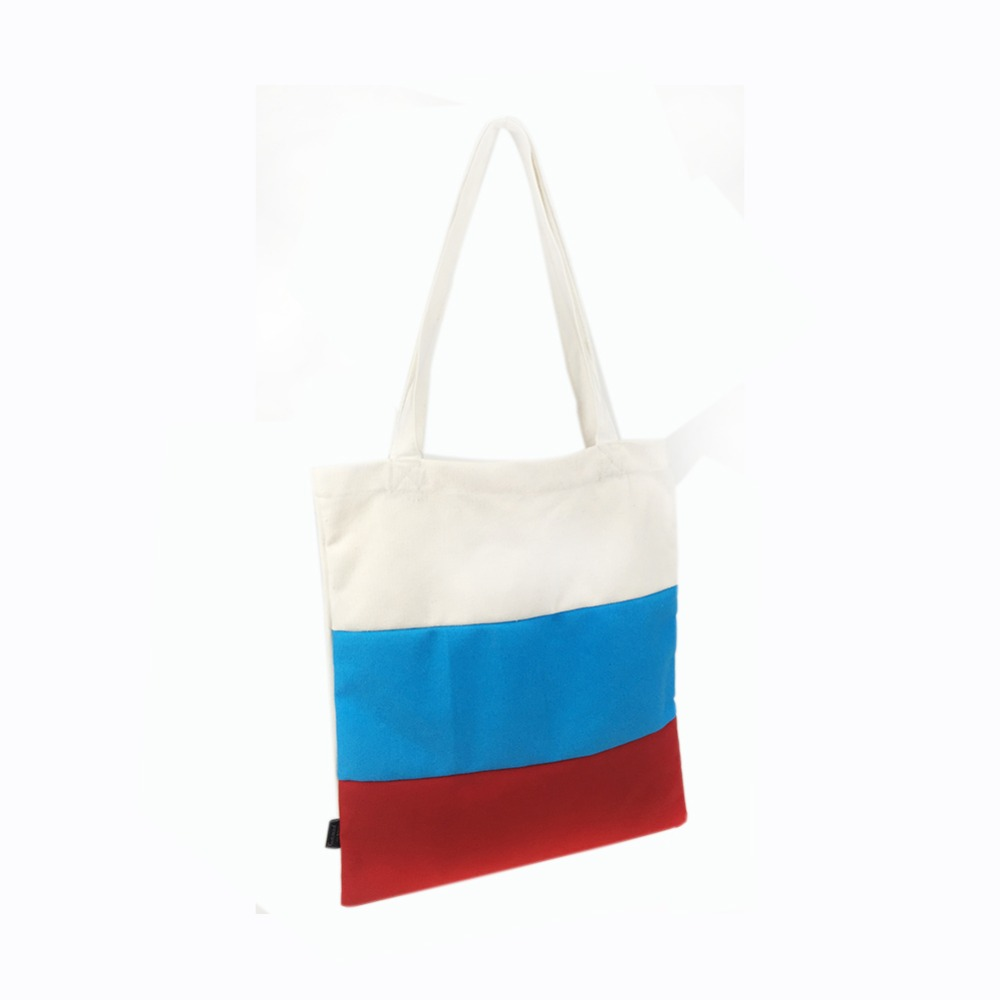 Russia world cup flag canvas handbag candy girl bag canvas tote shopping bag Russia flag bag
