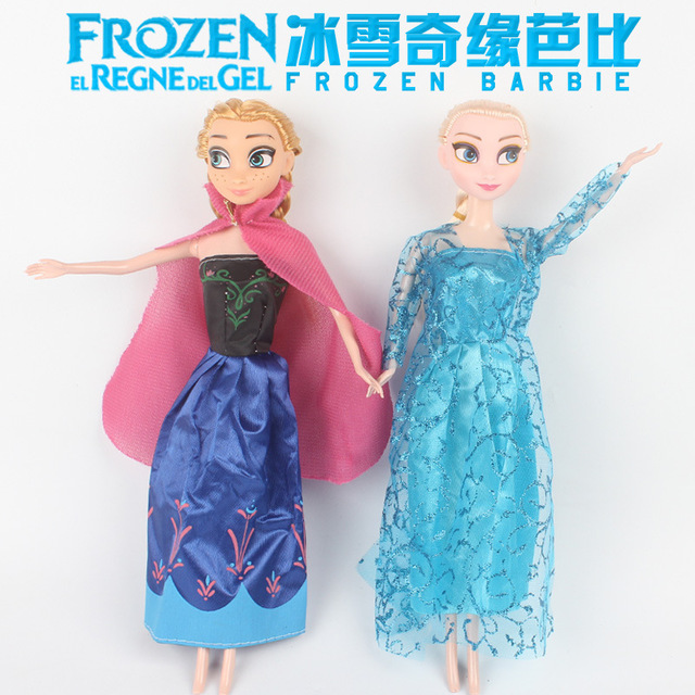 2018 Original Princess elsa doll Anna Snow Queen Children Girls Toys Birthday Christmas Gifts For Kids Sharon Dolls in Dolls from Toys Hobbies