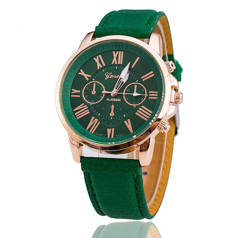 Relogio Feminino New Fashion Luxury Brand women Derss Casual Quartz Watch Men business Leather Strap Watches Hot Sale Clock in Women 39 s Watches from Watches
