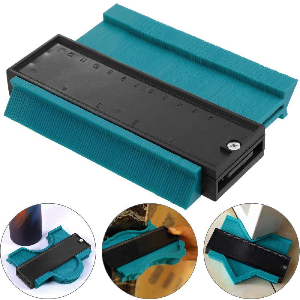 Profile Gauge Multi-functional Plastic  Duplicator Edge Shaping Measure Ruler For Tiling Laminate Woodworking R25