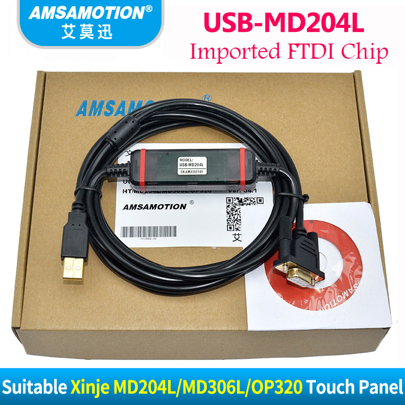 USB-MD204L Suitable XINJE OP320-A MD204L MD306L Touch Screen Programming Cable Download Cable With 1Year Warrenty кувалда truper md 6f 19884