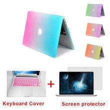 Mode Mat Arc-En-Dur Protecteur Cas Pour MacBook Air 11 Pro 13/15 pouce avec Retina + Rose Clavier Couverture Livraison gratuite