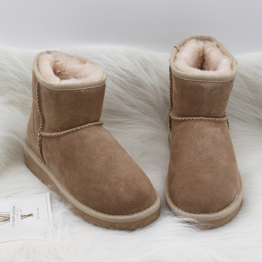 Top Quality New Women Genuine Cowhide Leather Snow Boots Winter Warm Classic Ankle Boots Women Fashion Shoes australia classic lady shoes high quality waterproof genuine leather snow boots fur winter boots warm classic women ug boots