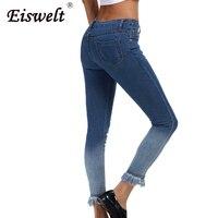 Chất Lượng cao Rửa Sạch Cộng Với Kích Thước 5xl Mẹ Thời Trang Nova Freddy mắt cá chân Jeans Mùa Thu Phụ Nữ Quần Bút Chì Mùa Đông Phụ Nữ Quần Jean cho cô gái