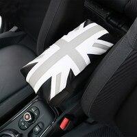 Universal PU Leather Armrest Box Mats Car Interior Armrest Pad Soft Protective Case For Mini Cooper