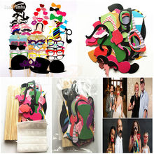 58Pcs Funny Photo Booth Props Decoration Photobooth Wedding Birthday Event Party Supplies Photocall