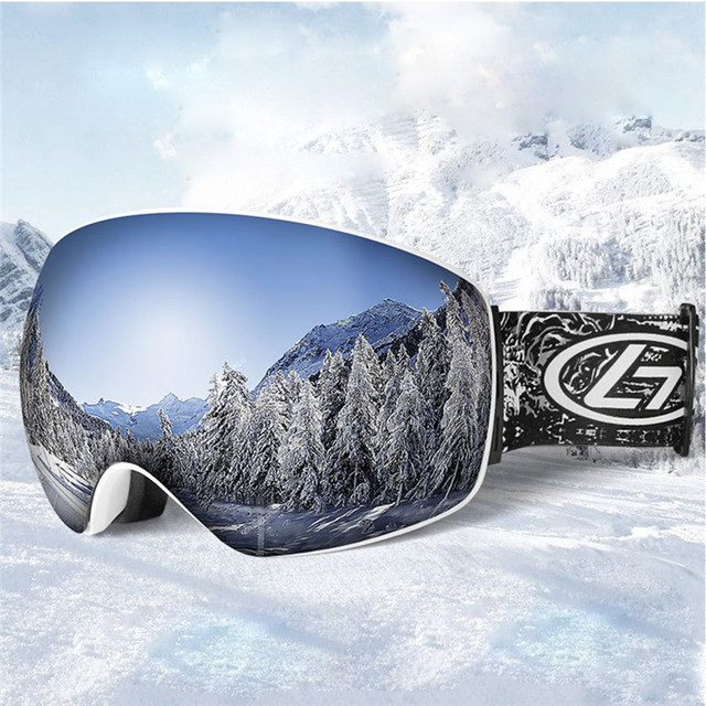 ce9f02f26e9 Ski Goggles Double Layers UV400 Anti-fog Big Ski Mask Glasses Skiing Men  Women Snow Snowboard Goggles