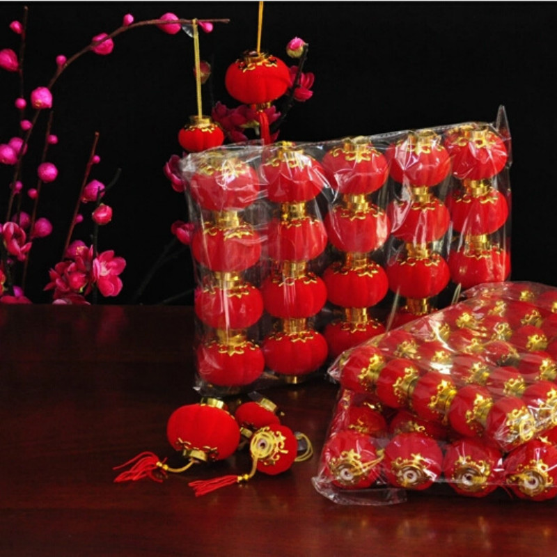 9pcs Small Red Traditional Chinese Lanterns, Mini Layout Lantern for  Festival/ Wedding/ Party Decorations.-in Lanterns from Home & Garden on  Aliexpress.com ...