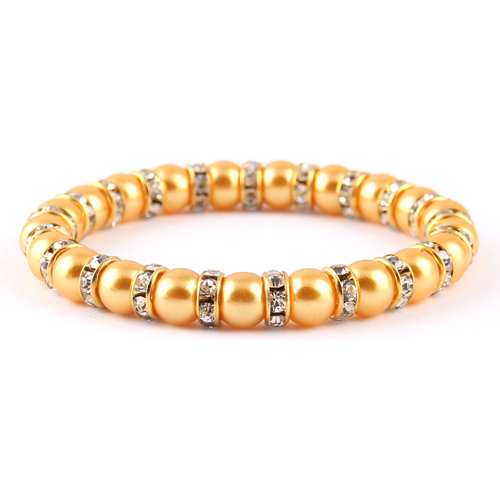WML 12 colors Crystal Cubic Zircon Gold silver color charm Simulated pearl beads Bracelet For Women Jewelry wife gift in Charm Bracelets from Jewelry Accessories