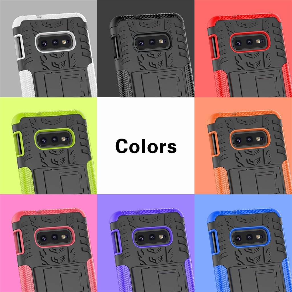 samsung s10 case cute For Samsung Galaxy S10e 5.8 6.1 6.4inch Hybrid Rugged Hard Rubber PC Stand Shockproof Case Cove z7