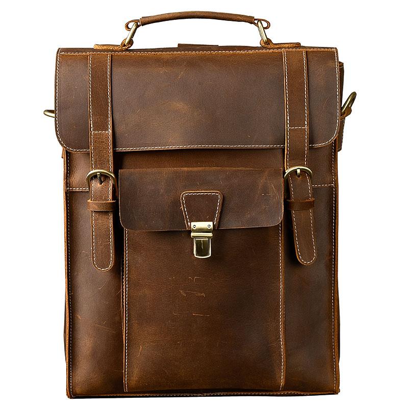 Echtes funktion Zoll Schulter Tasche Männer Retro Crazy 14 Bjyl Reise Laptop Neue Taschen Horse Rucksäcke Brown Leder Multi YUqt8wx